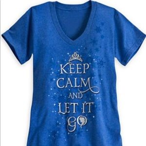 Disney Store Women's Elsa Frozen Keep Calm Tee XXL